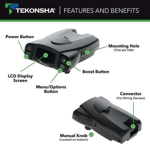 Tekonsha 90195 P3 Trailer Brake, Tekonsha P3 Prodigy Electric Trailer Brake Controller Wiring Diagram