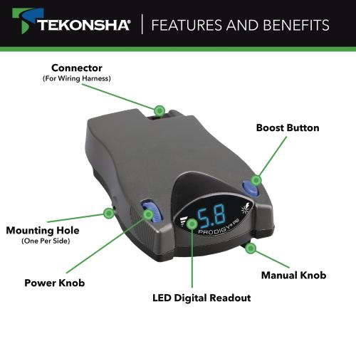 Tekonsha 90885 Prodigy P2 Trailer, Tekonsha Trailer Brake Controller Wiring Diagram